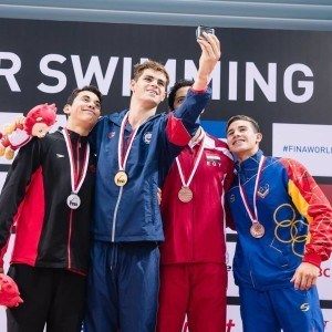 Michael Andrew at 2015 FINA World Junior Championships (Courtesy: Michael Andrew's Instagram)