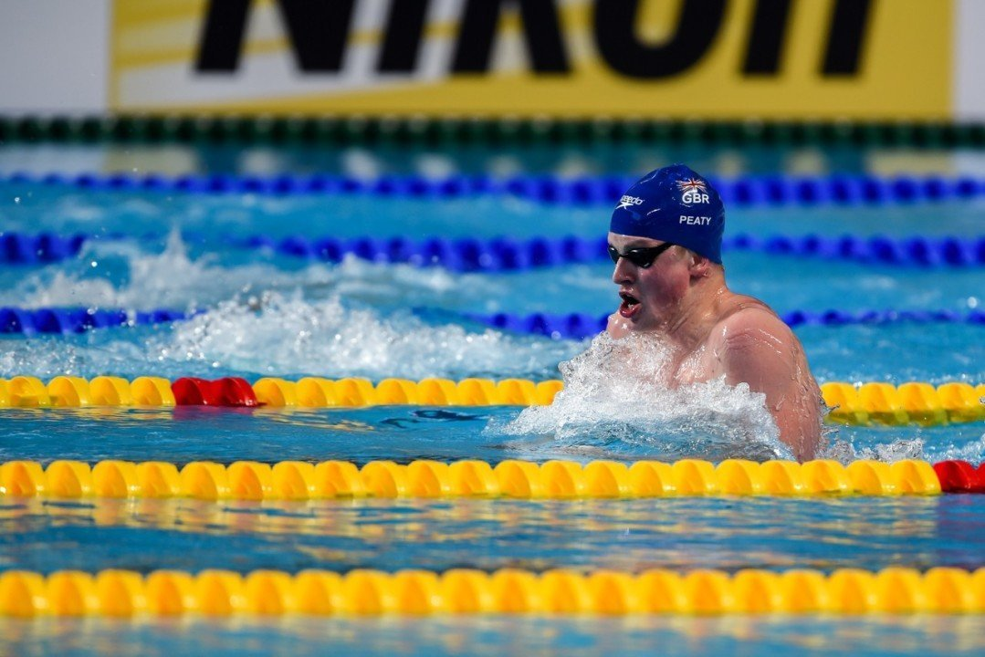 Peaty Posts a 59.55 to Win the 100 Breaststroke in Edinburgh