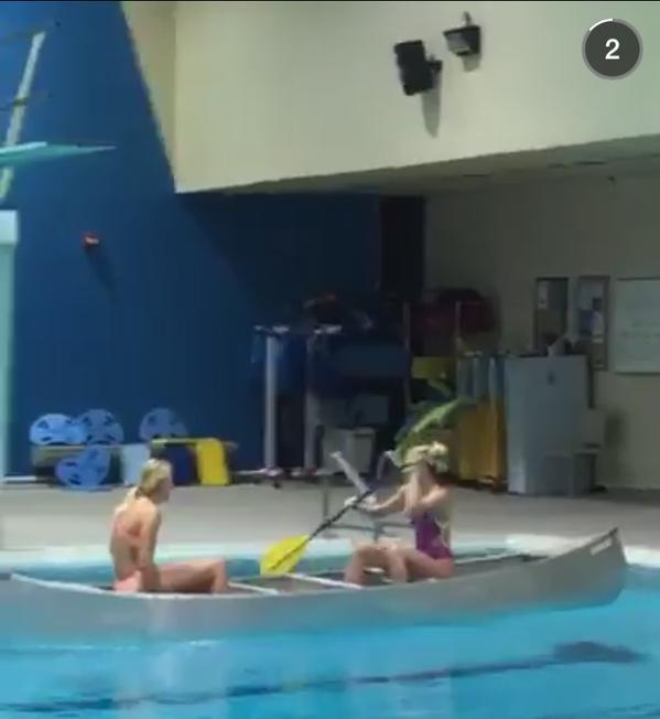 Swimming's TopTenTweets of the Week: #8 Canoeing Your Way Thru Warmup
