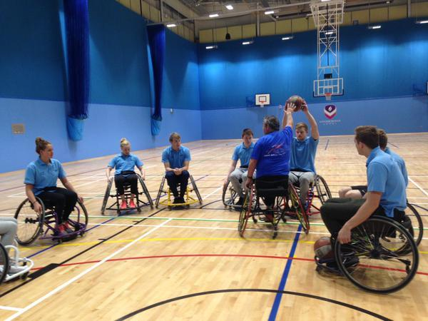 British Breaststrokers Peaty, Willis, Renshaw Test Wheelchair Basketball Skills