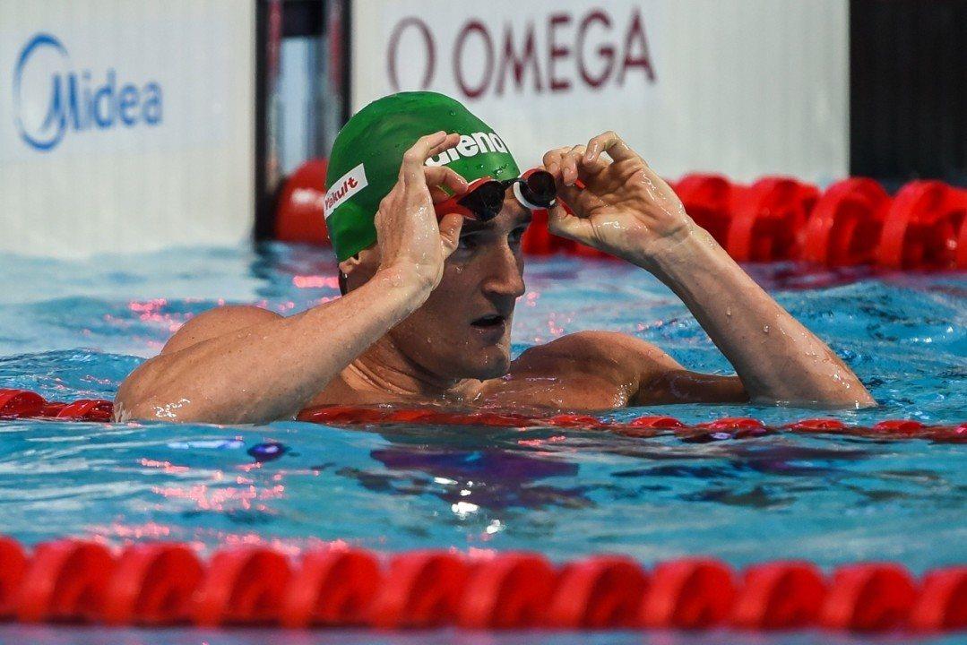 El campeón olímpico Cameron Van der Burgh está infectado con Coronavirus