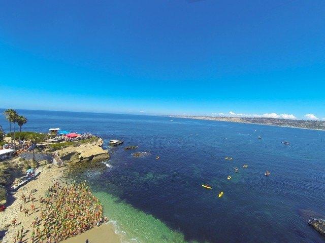 2015 La Jolla Rough Water Swim, stock, open water