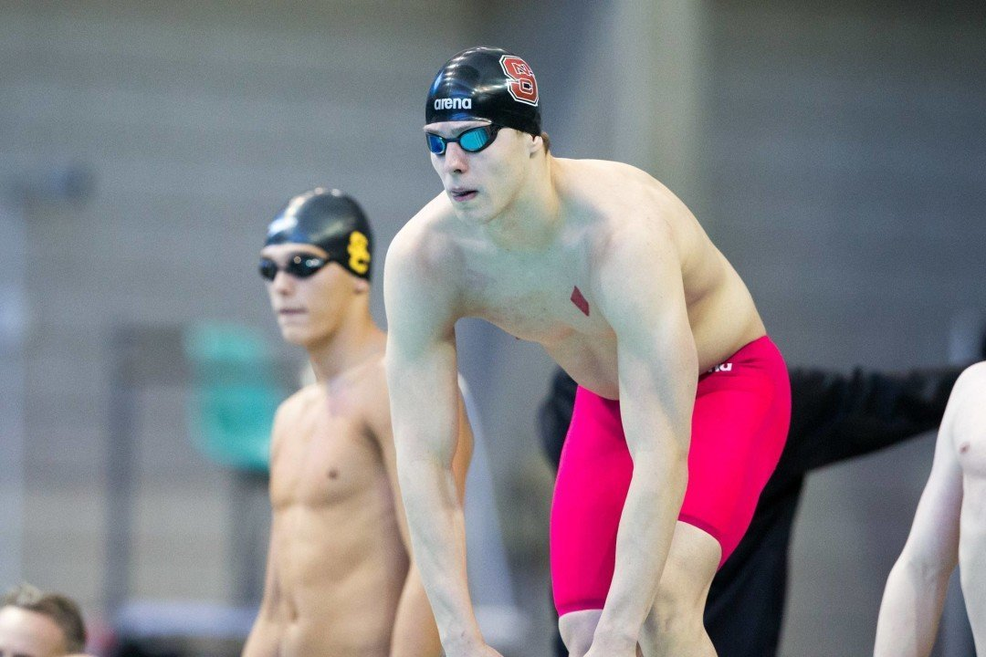 Ryan Held Drops 19.4 50 Free On Day 1 of NC State Dual With Wisconsin