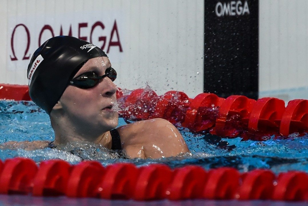 Katie Ledecky Cruises to a 4:30 500 Free at NCAP Invite Day 3 Prelims