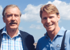Former Mexican President Vicente Fox with Josh Davis (courtesy of Josh Davis)