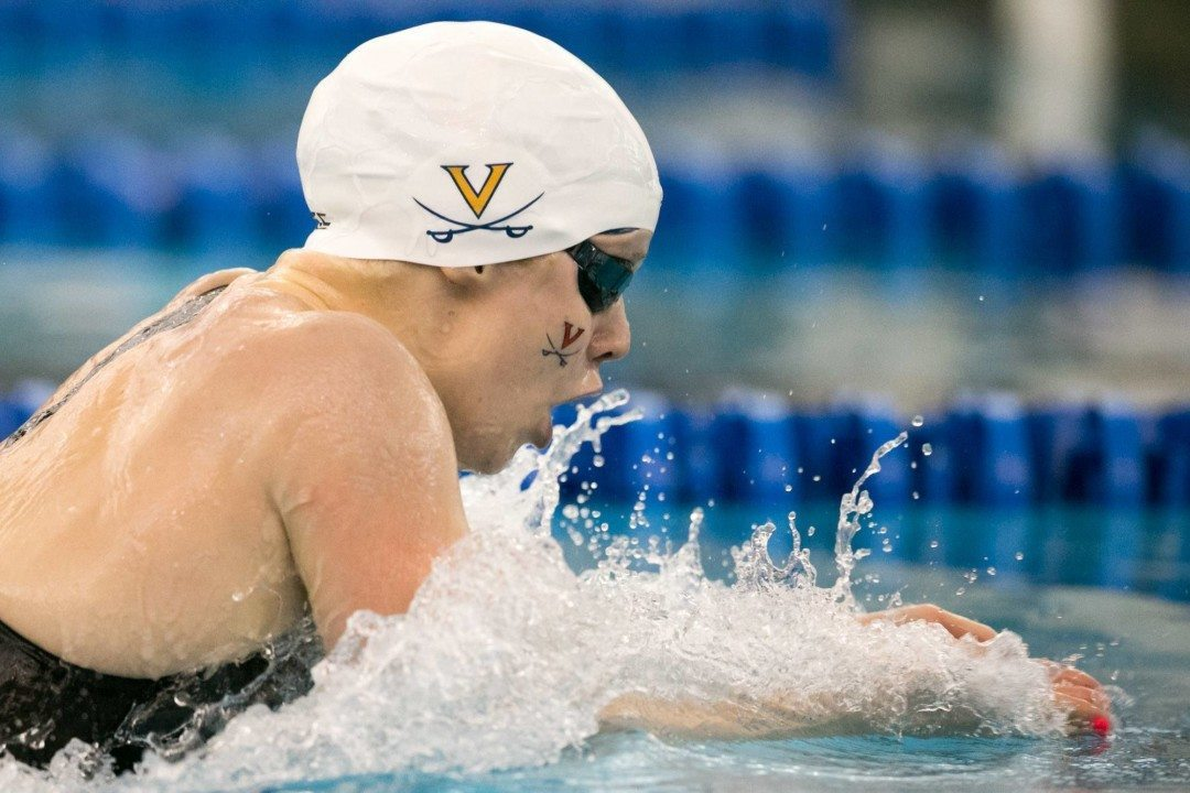 Haughey, Simon Tie For Pool Record on Day 2 of UVA-Michigan-Penn State