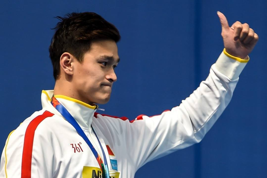 Sun Yang Injures Foot, Withdraws From Aquatic Super Series