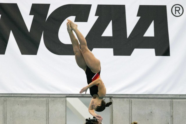 Stanford diver Kassidy Cook, the NCAA runner-up on the 1-meter, will also redshirt next season. (Courtesy: Tim Binning/TheSwimPictures.com)