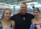 (L-R) Ruta Meilutyte, Jon Rudd, and Moniek Nijhuis. (Photo Courtesy: Plymouth Swimming)