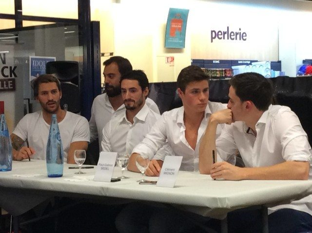 Left to right: Perez Dortona, Barnier, Stasiulis, Bedel, Mignon