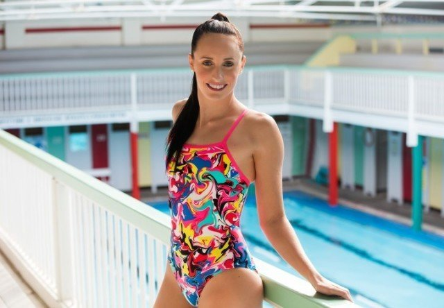 15420768c53 Commonwealth Games Champion Taylor McKeown wears Funkita Splatterfied One  Piece