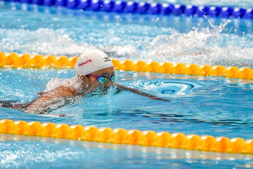 2015 World Champs Finalist Kanako Watanabe DQ'd in 100 Breast Prelims