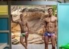 "Aussie swimmers Tomas Elliot and Kurt ""Kendoll"" Herzog model for Funky Trunks Underwear."