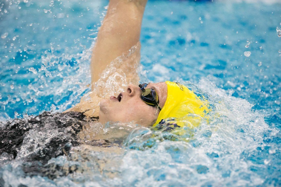 Smiddy Shines As Michigan Wins Chilly Long Course Triangular