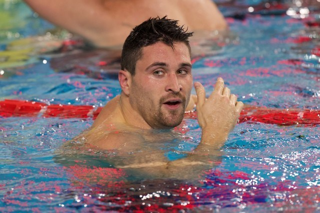 Marco Orsi, winner of the men's 50m freestyle, courtesy of Domeyko Photography