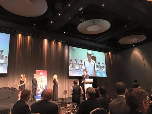 Kyle Chalmers remotely accepting his SASI 'Junior Male Athlete of the Year' Award, courtesy of SASI Facebook