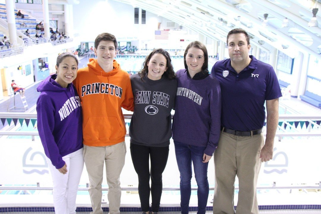 Four NYC High School Swimmers from AGUA Commit to DI Colleges