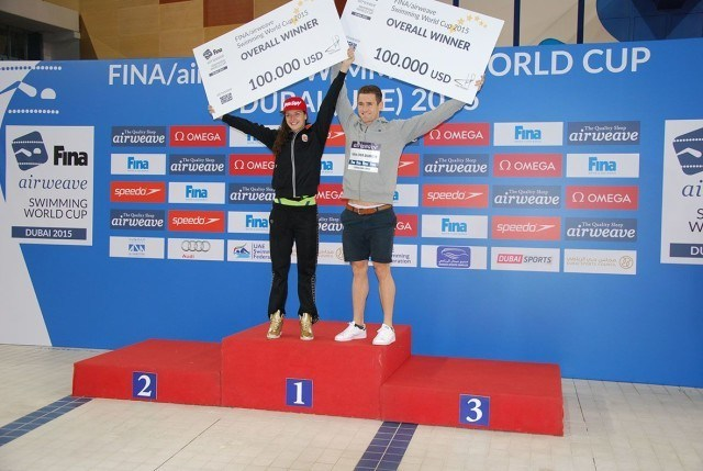 Overall 2015 World Cup Winners, Katinka Hosszu and Cameron Van der Burgh