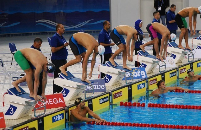 Start of Men's 100 butterfly