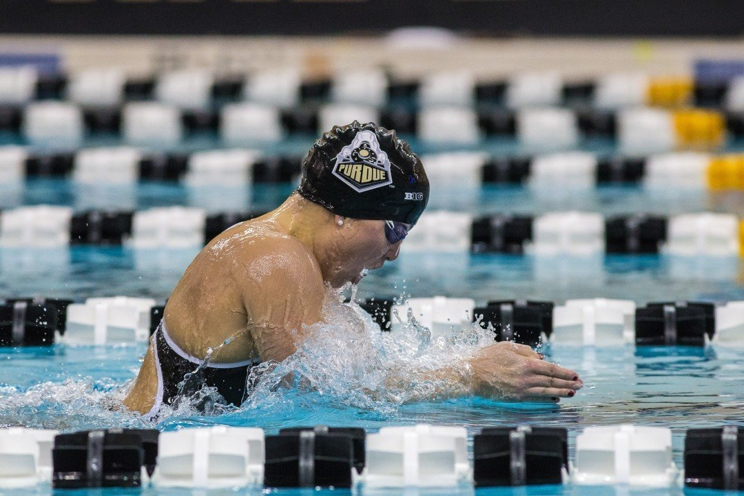 Fogle Blasts A Cut 2:07.30 200 Breast as Purdue Sweeps Invite