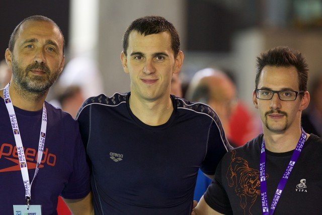 Laszlo Cseh (center), courtesy of Rafael Domeyko, Rafael Domeyko Photography