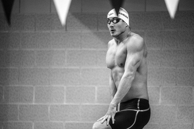 Nathan Adrian in the prelims of the 50 free (photo: Mike Lewis, Ola Vista Photography)