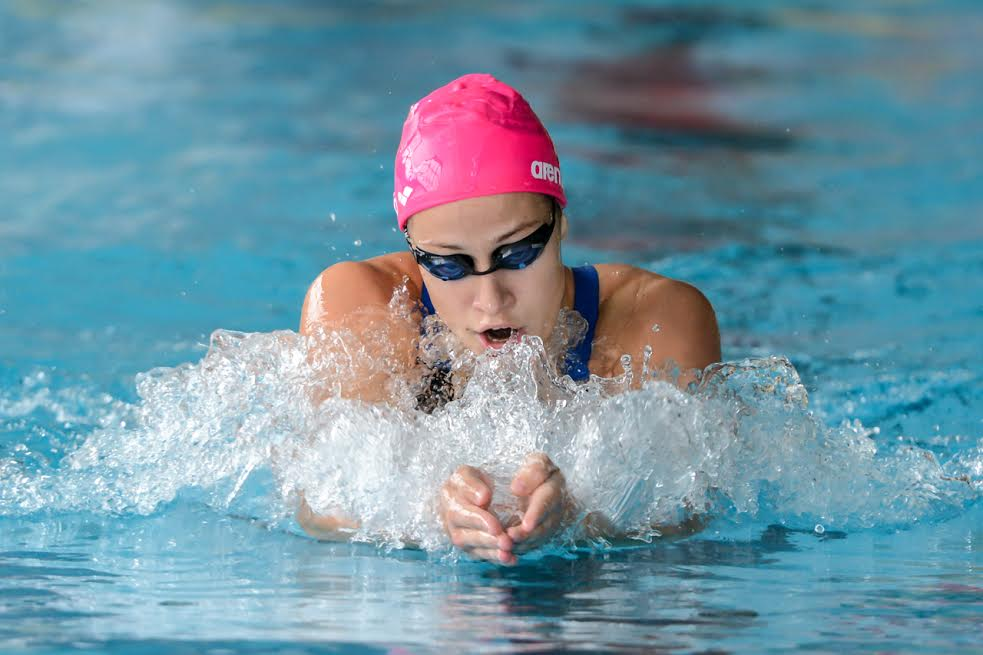 Andrea Podmanikova Swims New Slovak Record