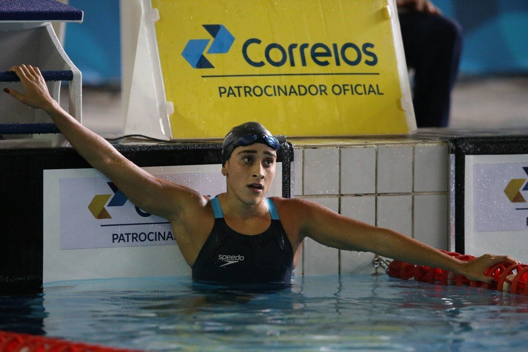 Brazilians de Paula, Marcal Advance To Women's 100 Fly Semi-Finals