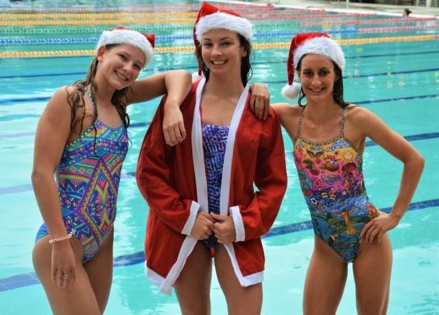 Christmas One Piece Swimsuit.Christmas Wrapped Up With Amanzi Swimwear