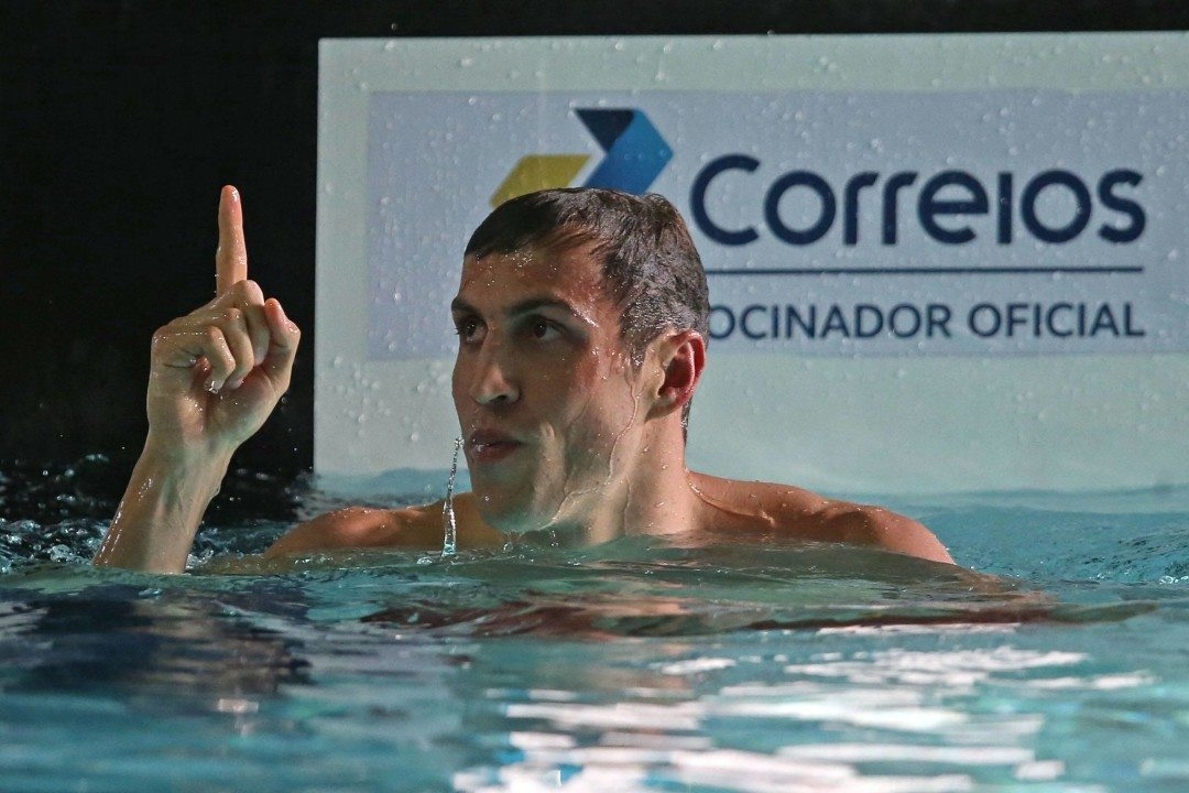 Guilherme Guido Takes Down His Own 100 Back South American Record