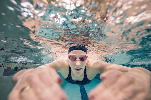 Missy Franklin for the USA Swimming foundation in Denver (photo: Mike Lewis)