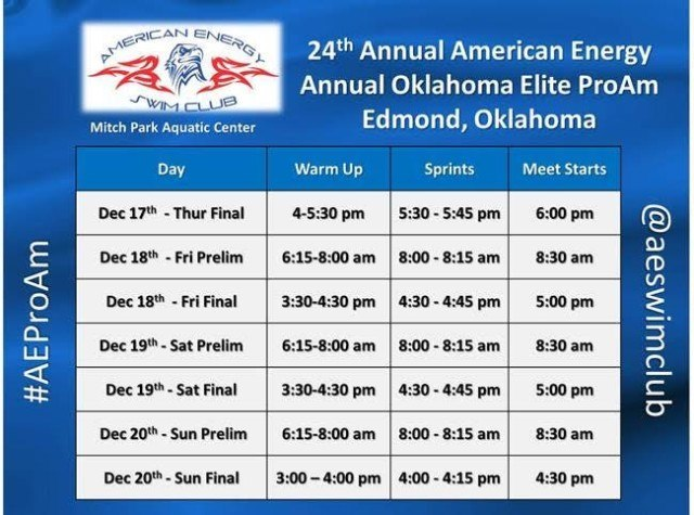 OK ProAm 2015 Schedule