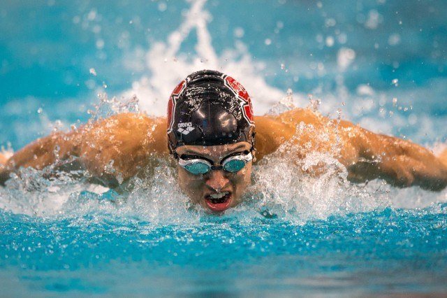 Christian McCurdy prelims 200 IM Arena Pro Swim Series Austin Texas (photo: Mike Lewis)