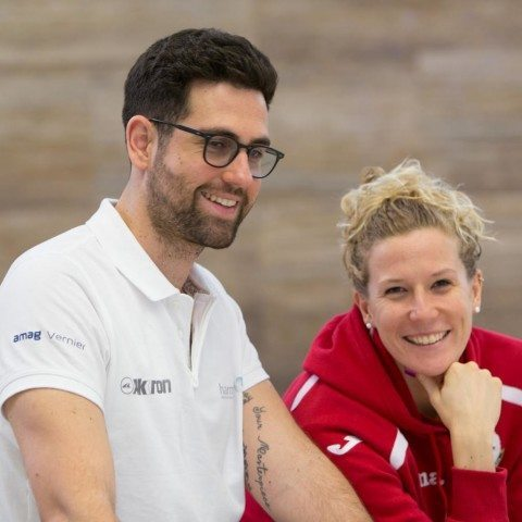 Coach Nicola Cassio and Laura Letrari via Rafael Domeyko