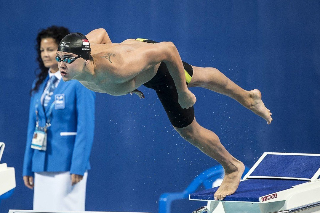 Two-Time NCAA Champion Joseph Schooling Drops 200 Fly in Rio