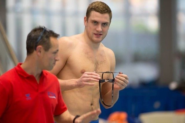 Andrey Grechin of Russia won the 100 free in 50.36. via Domeyko Photography