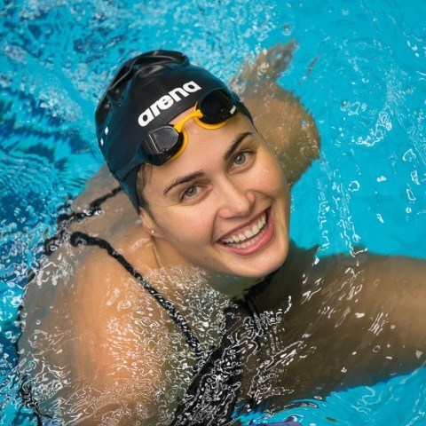 Zsuzsanna Jakabos of Hungary, winner of the 200 back