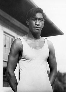Duke Kahanamoku circa 1912 via Wikipedia