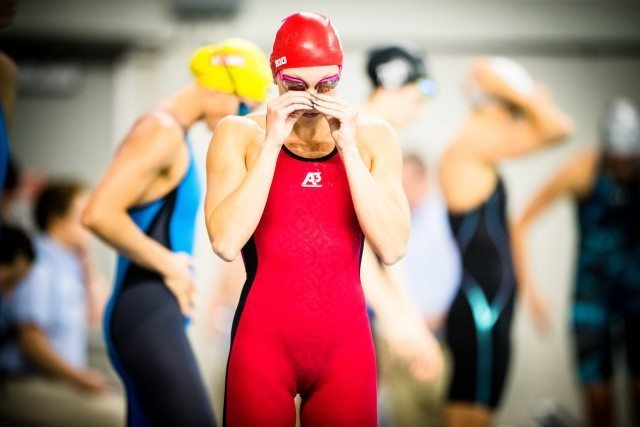 Ivy Martin in the 50 at the pro swim series stop in Austin Texas (photo: Mike Lewis)