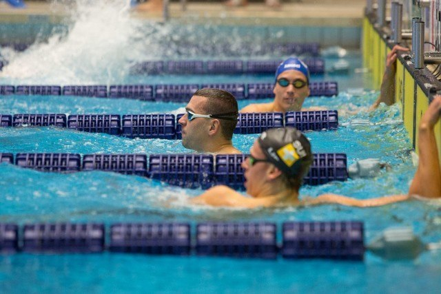 Laszlo Cseh of Hungary after his winning 100 fly. via Domeyko Photography