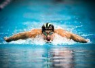 Michael Phelps qualifies first for the finals in the 200 IM in Austin Texas (photo: Mike Lewis)