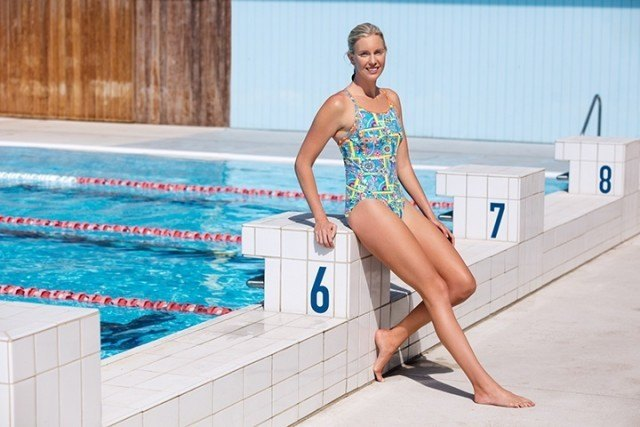 Kareena Lee wears the Funkita Russian Love Diamond Back One Piece