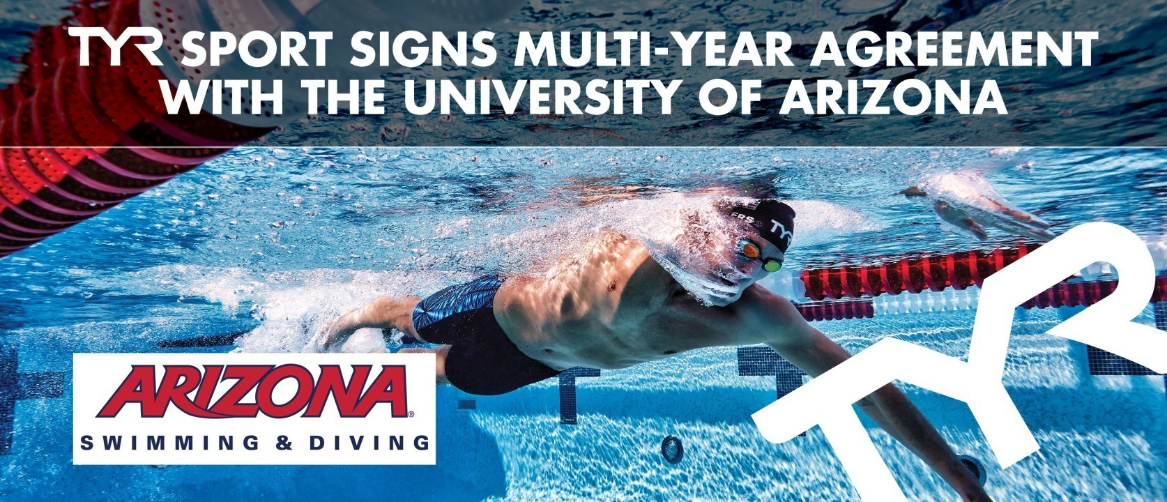 TYR Sports signs multi-year agreement with the University of Arizona Swimming