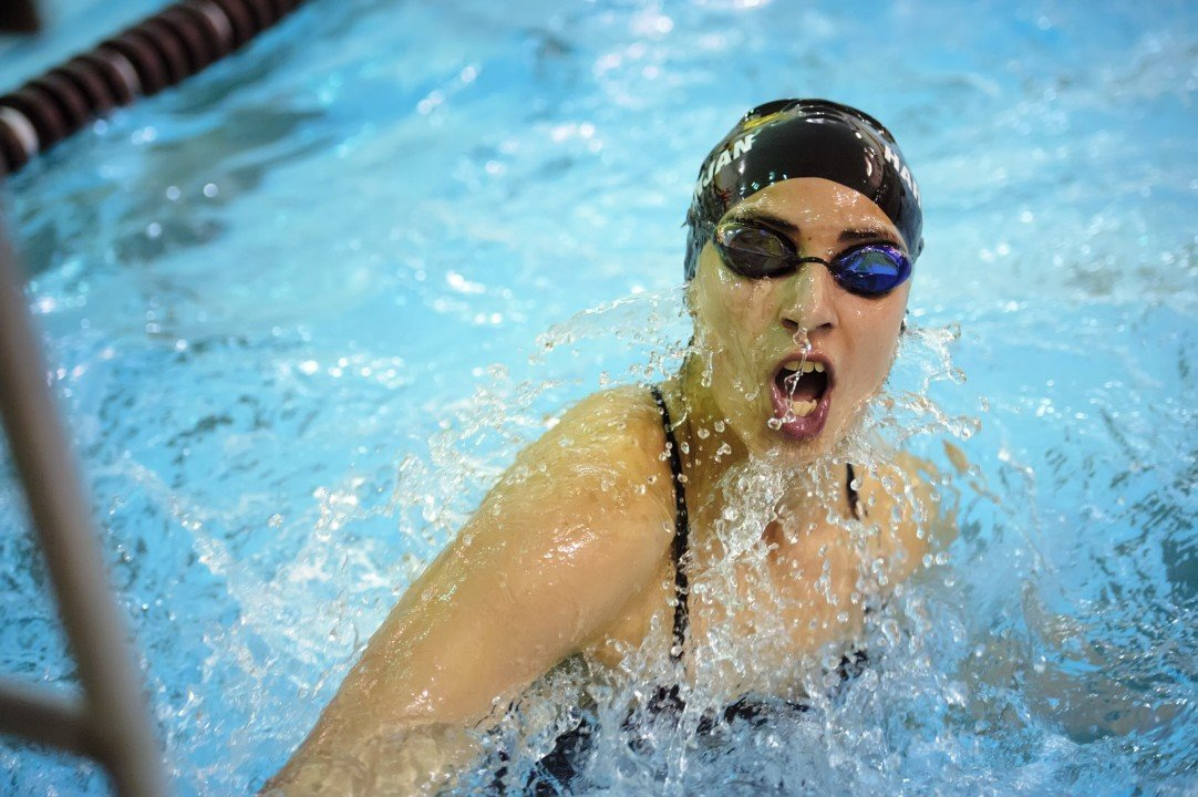 Keiana Fountaine Swims Best Time 1:49.2 200 FR As WSU Falls To Wyoming