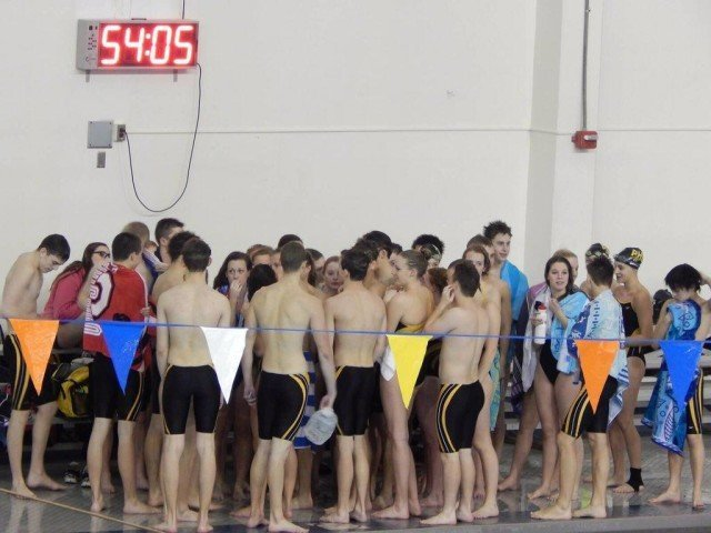 PHS swimmers ready to dump the jug, photo courtesy of Meghan Burnard