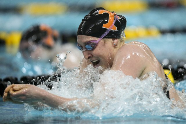 Colleen Callahan of the Tennessee Volunteers during day 2 of SEC Swimming and Diving Championships at the University of Missouri Mizzou Aquatic Center in Columbia, MO. Photo By Craig Bisacre/Tennessee Athletics