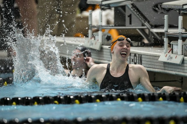 Alex Cleveland of the Tennessee Volunteers during day 2 of SEC Swimming and Diving Championships at the University of Missouri Mizzou Aquatic Center in Columbia, MO. Photo By Craig Bisacre/Tennessee Athletics