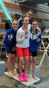 The West Potomac girls, winners of the girls' 200 medley relay. Courtesy: Matt Rees/SwimSwam.com