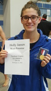 Holly Jansen, winner of the girls' 200 IM. Courtesy: Matt Rees/SwimSwam.com