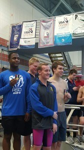 The Robinson boys won the 400 free relay. Courtesy: Matt Rees/SwimSwam.com